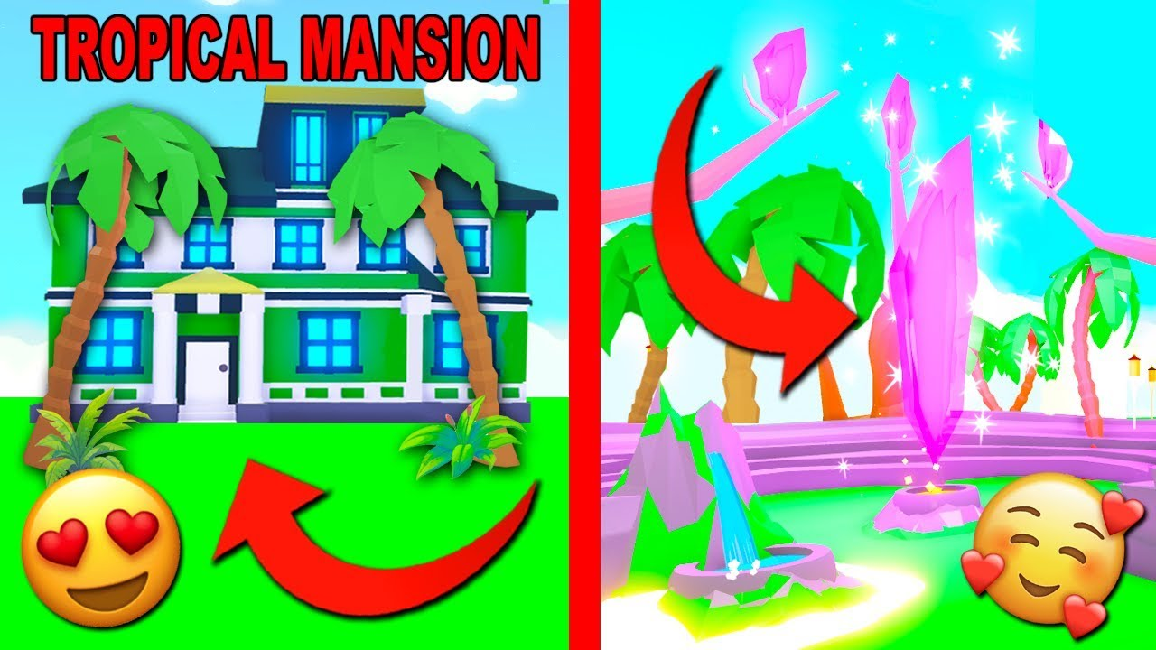 I Bought A Huge Mansion For My Pets In Adopt Me Roblox I Bought A Tropical Mansion In Adopt Me New Update Roblox Youtube