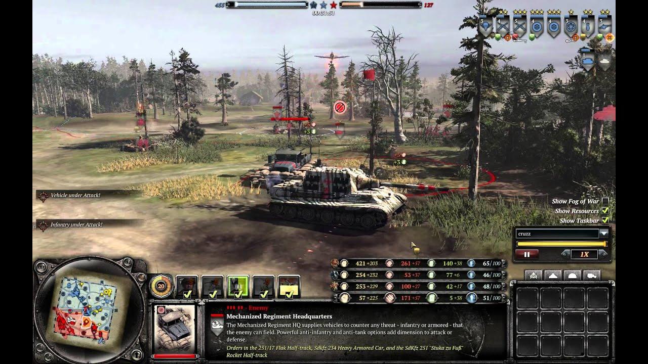 Coh2 P47 Vs Jagdtiger Youtube