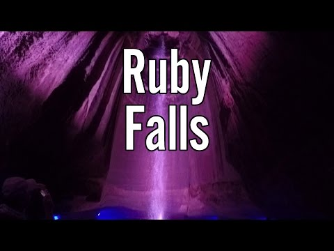 A trip into Ruby Falls