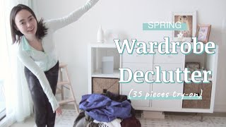 Spring Wardrobe Declutter + 35 Pieces Try-On