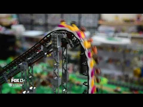 A.J. - Man Who Works With LEGO Pieces Creates A Realistic LEGO Roller Coaster!