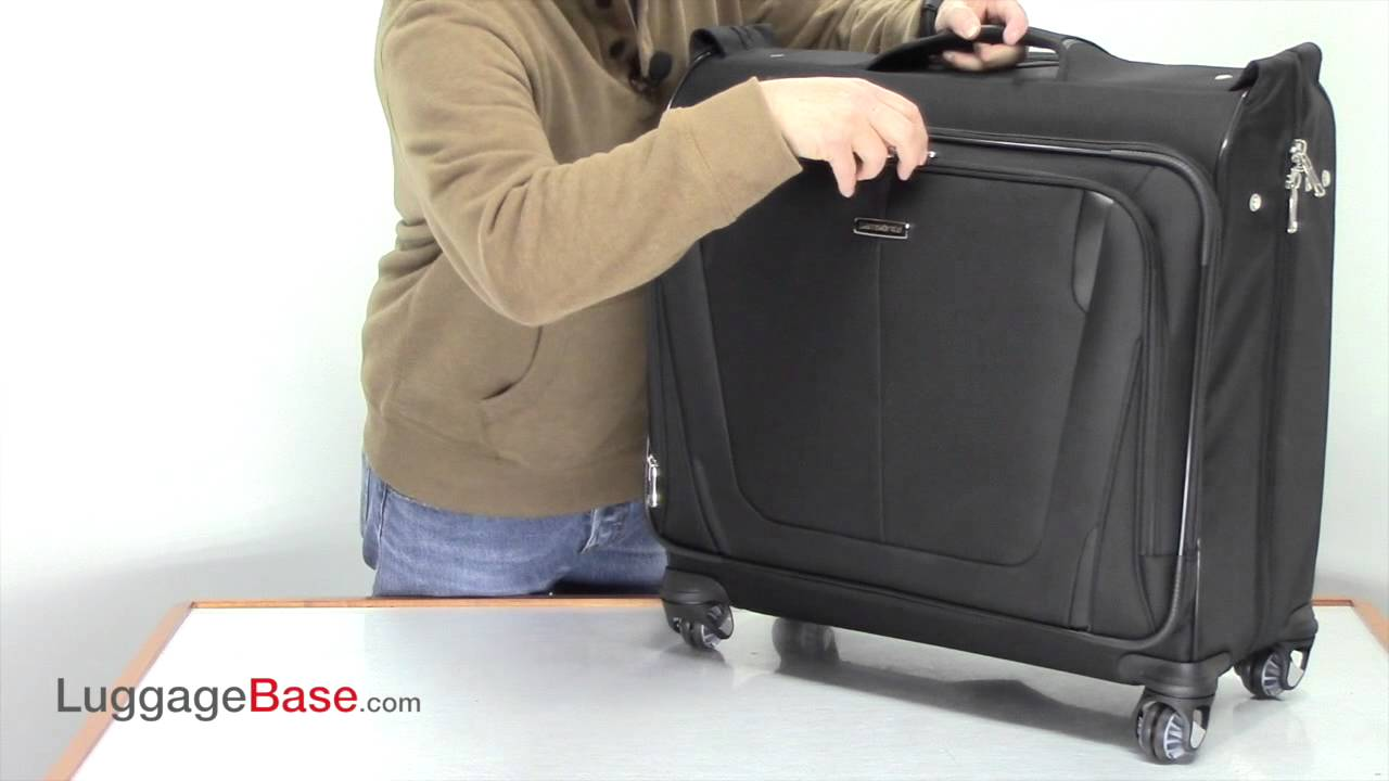 Samsonite Silhouette Sphere II Deluxe Voyager Garment Bag - Luggage Base -  YouTube cdd40e5f0ff77