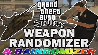 GTA San Andreas WEAPON RANDOMIZER Speedrun With Rainbomizer!