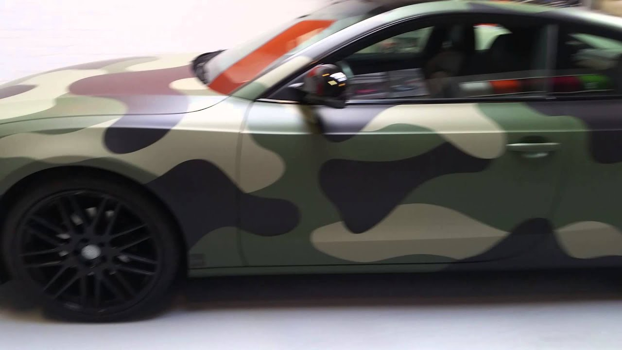 Audi Camo Wrap Youtube