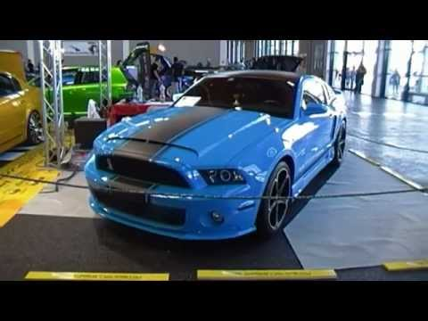 Baby blue Ford Mustang Shelby GT500