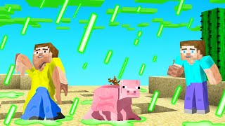 Surviving MINECRAFT with ACID RAIN!