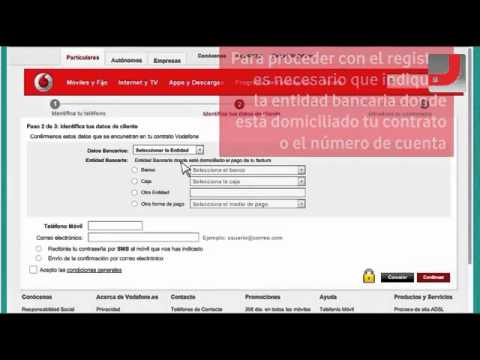 Cómo registrarse en Mi Vodafone