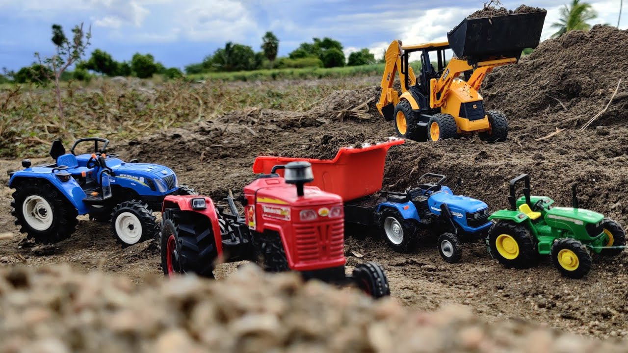 John Deere 4wd Tractor Sonalika Tractor Fully Loaded By Jcb Jcb And Tractor Videos Youtube