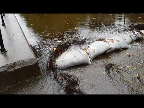 Floods caused by Strom Callum in Aberdulais and Tonna, Neath, Wales, UK