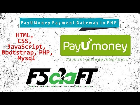 PayUMoney Payment Gateway Integration in PHP | Free Tutorial | Tamil | F5Craft thumbnail