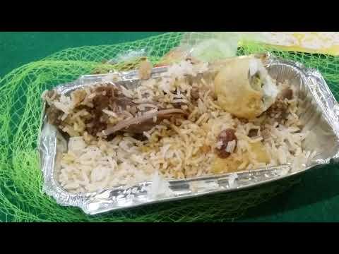 The Food Lover's King Eating Mutton Biryani