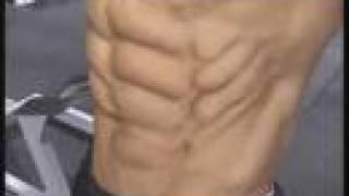 Bodybuilder Jimmy Canyon trains abs - Guns 2002