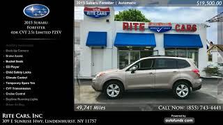 Used 2015 Subaru Forester   Rite Cars, Inc, Lindenhurst, NY
