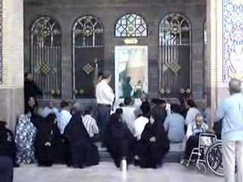 Iranians at the Saida Zeinab Mosque.