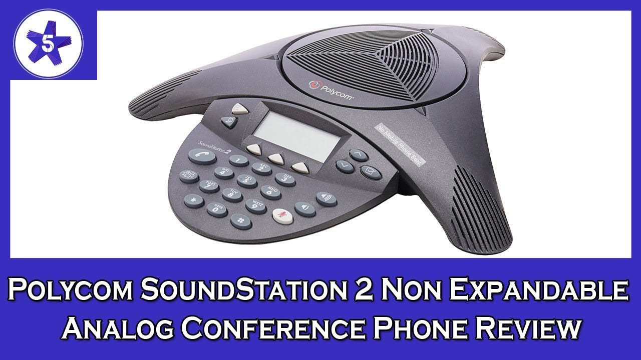 Polycom SoundStation 2 Non Expandable Analog Conference Phone Review (2200-16000-001)