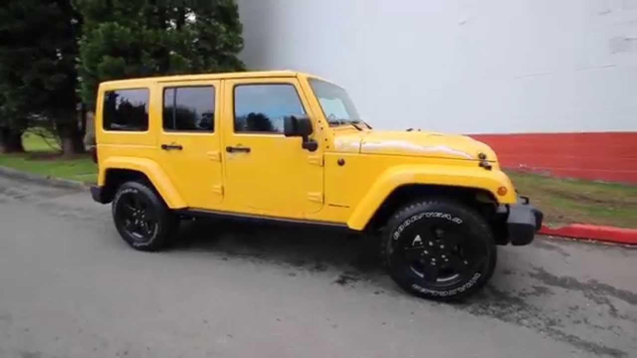 custom-2015-jeep-wrangler-unlimited-rubicon-baja-yellow-hemi-6-4-driver-front-three-quarter Yellow Jeep Wrangler Baja