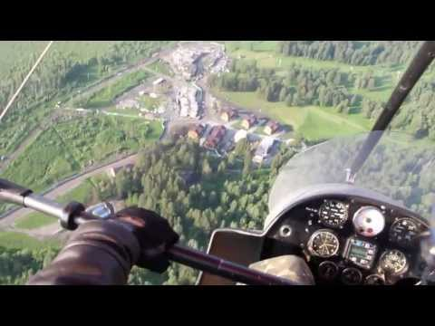 Полет на мотодельтаплане. Горный Алтай