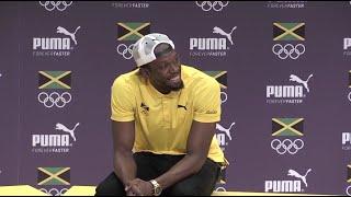 Usain Bolt fick kärleksförklaring av norsk reporter