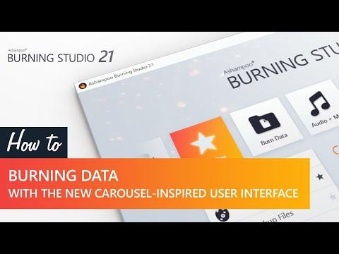 Ashampoo Burning Studio 21 video tutorial: Burning data with the carousel-inspired user interface thumbnail