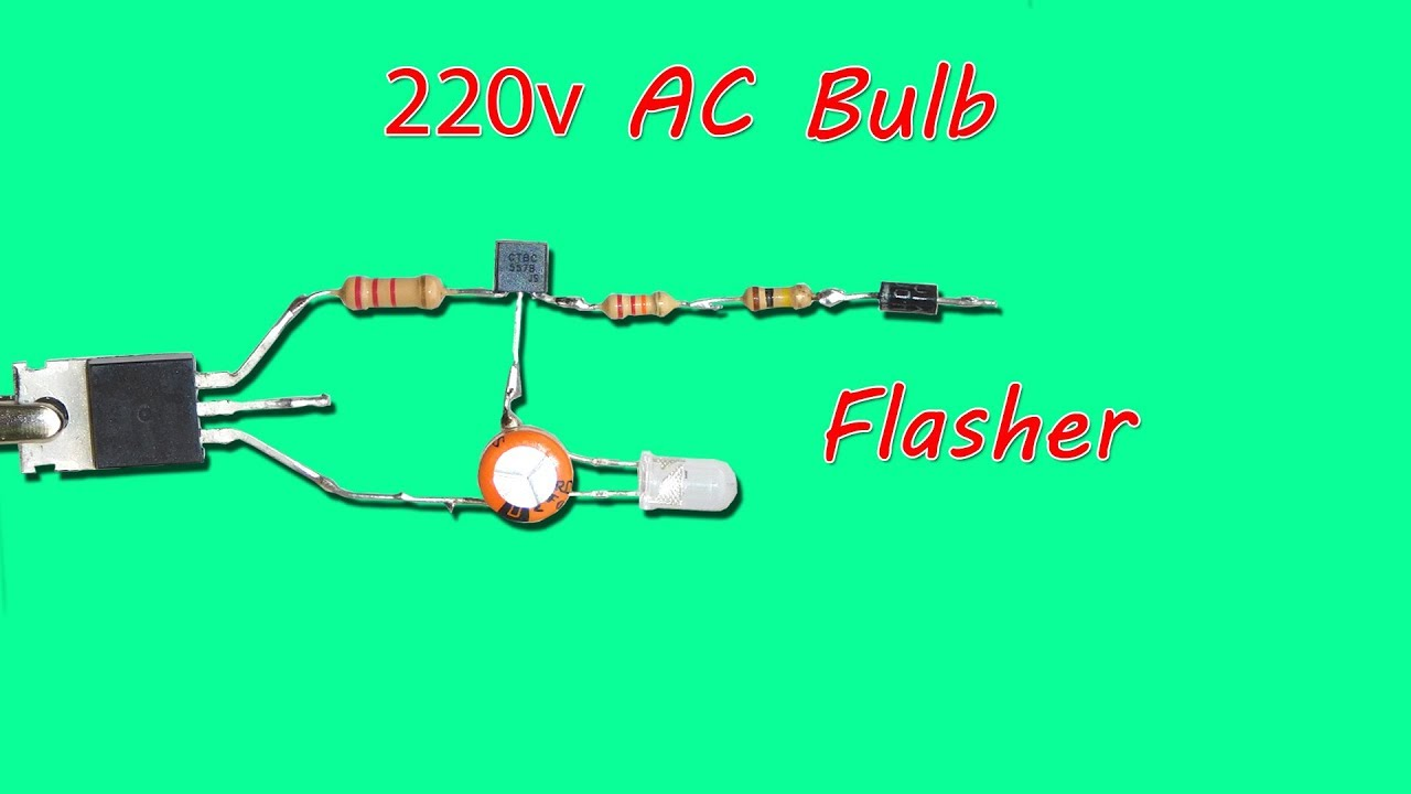 220v Ac Bulb Flasher Circuit Using Bt136 Youtube Simple Running Led Chaser 3 Transistors