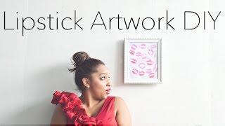{DIY} Lipstick Artwork + KIN Community Valentines Collaboration