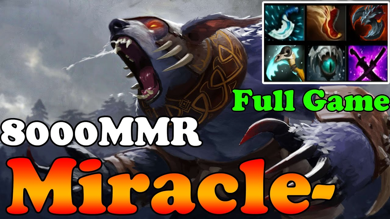 dota 2 miracle 8000mmr plays ursa full game ranked match
