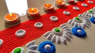 Border rangoli designs for new year || इतनी Simple Rangoli Design की आप भी बना लेंगे –