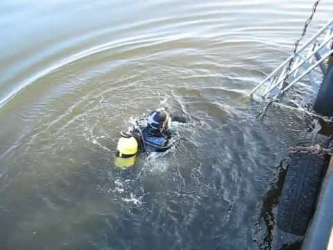 Водолазные работы 1 остров маяк Толбухин Финский залив Diving operations