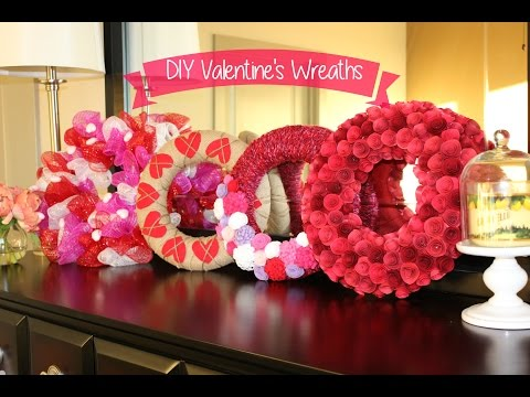 Valentine's Decor: 4 Easy DIY Wreaths