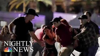 Las Vegas Attack: First Responders Take Gunfire While Rushing To Victims | NBC Nightly News