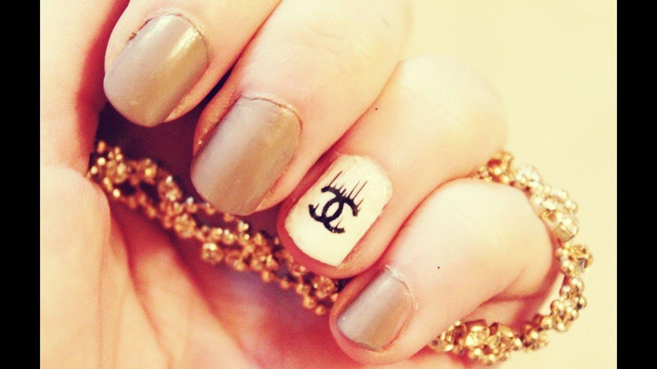 chanel nail tutorial. easy elegant