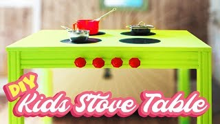 DIY Kids Kitchen Stove Table // How to Reuse/Repurpose/Recycle Old Furniture