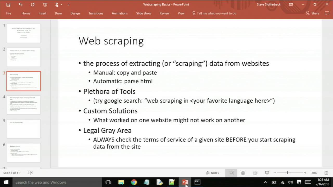 Image from Webscraping by Example: An introduction to BeautifulSoup