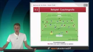 Spiel aus der 3er Kette - Die Coachingrolle des Trainers verbessern!