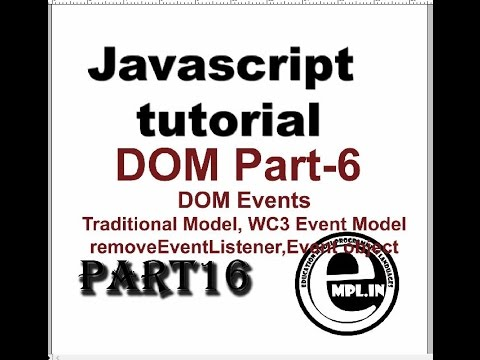 JavaScript tutorial in Hindi Part-16 DOM-6 DOM Events