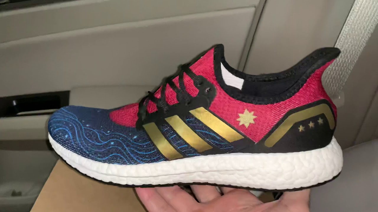 Adidas Speedfactory AM4 Captain America Marvel shoes