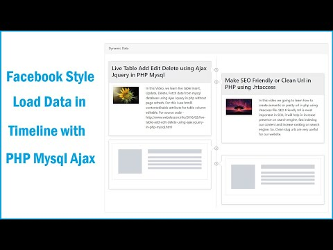 Facebook Style Load Data In Timeline With PHP Mysql Ajax