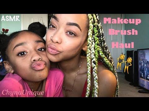 ASMR | Makeup Brush Collection | Mic Brushing | Face Brushing