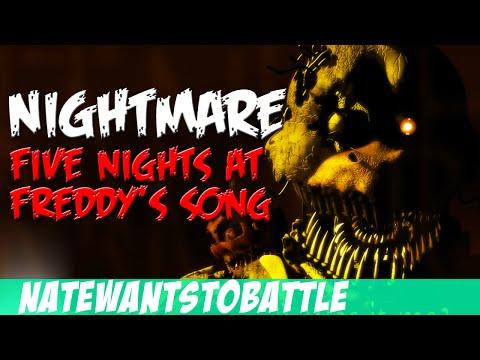 NateWantsToBattle: Nightmare [FNaF LYRIC VIDEO] FNaF Song
