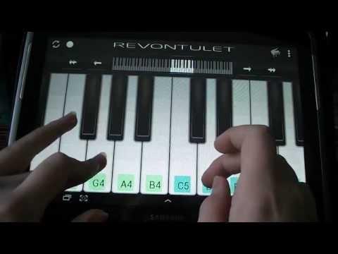 Пианино на планшете играем)