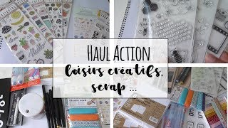 [HAUL] Action : scrap,loisirs créatifs, papeterie (nouveautés)