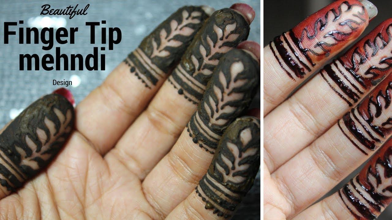 Mehndi Fingers Rating : Beautiful easy finger tip mehndi designfinger design