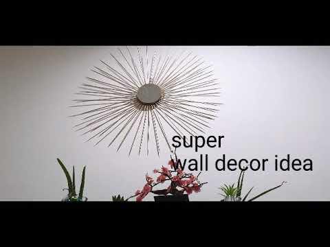 Unique wall decoration idea // DIY:Paper wall decoration//Hanging Wall decor// easy home decoration