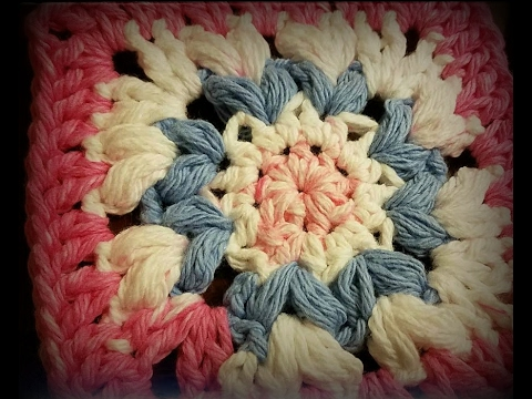 Heart to Heart Granny Square Crochet Pattern Tutorial