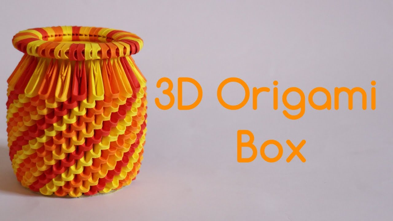 How To 3d Origami Box Model 3 Youtube Swan Diagram