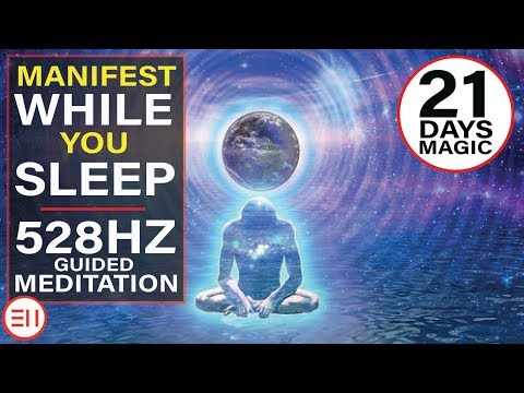 528Hz Guided Sleep Meditation to Manifest Anything You Want in Life | 21 Days Magic!! [MUST TRY!!]