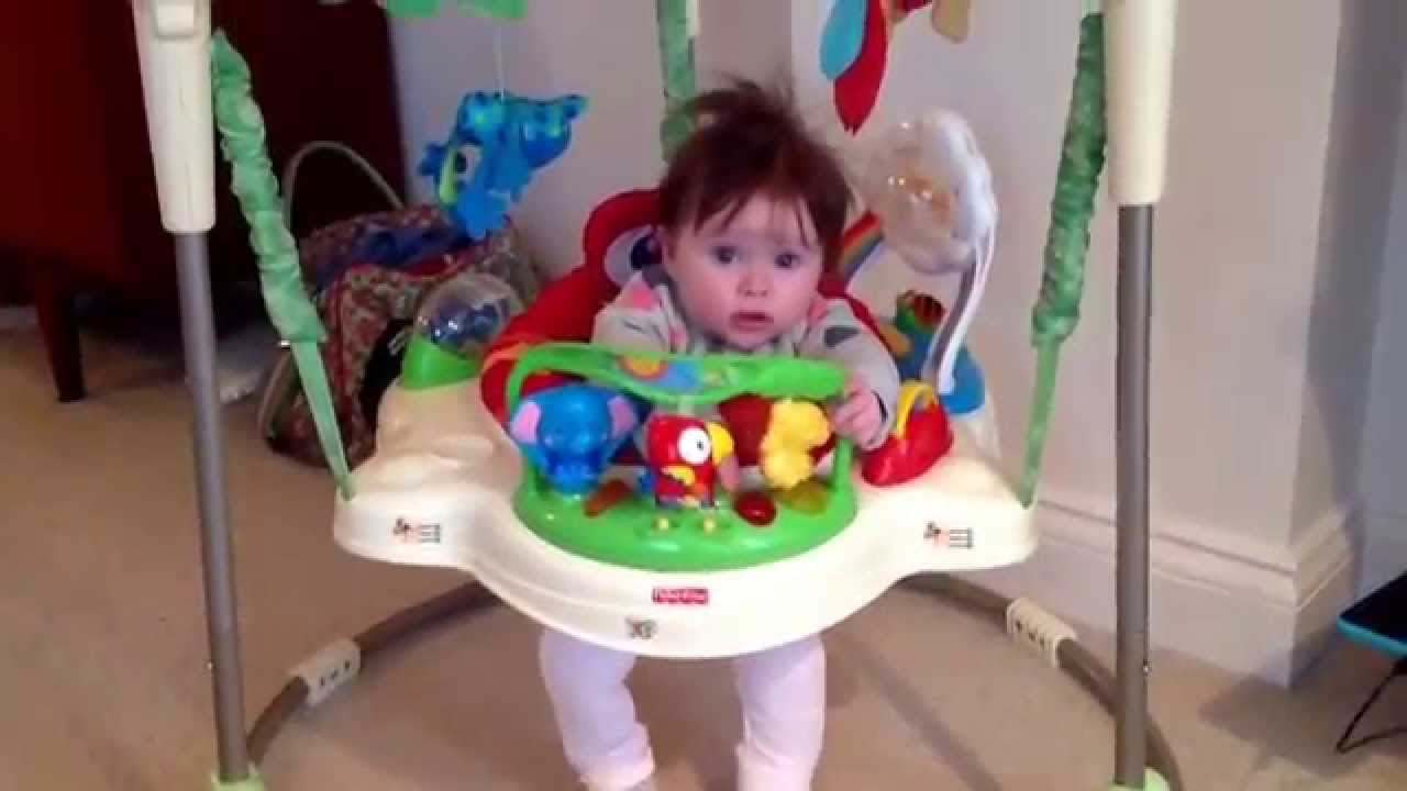 b99fc9bd9e67 Baby entertainers! Play gym and bouncers for 5 minutes peace - YouTube