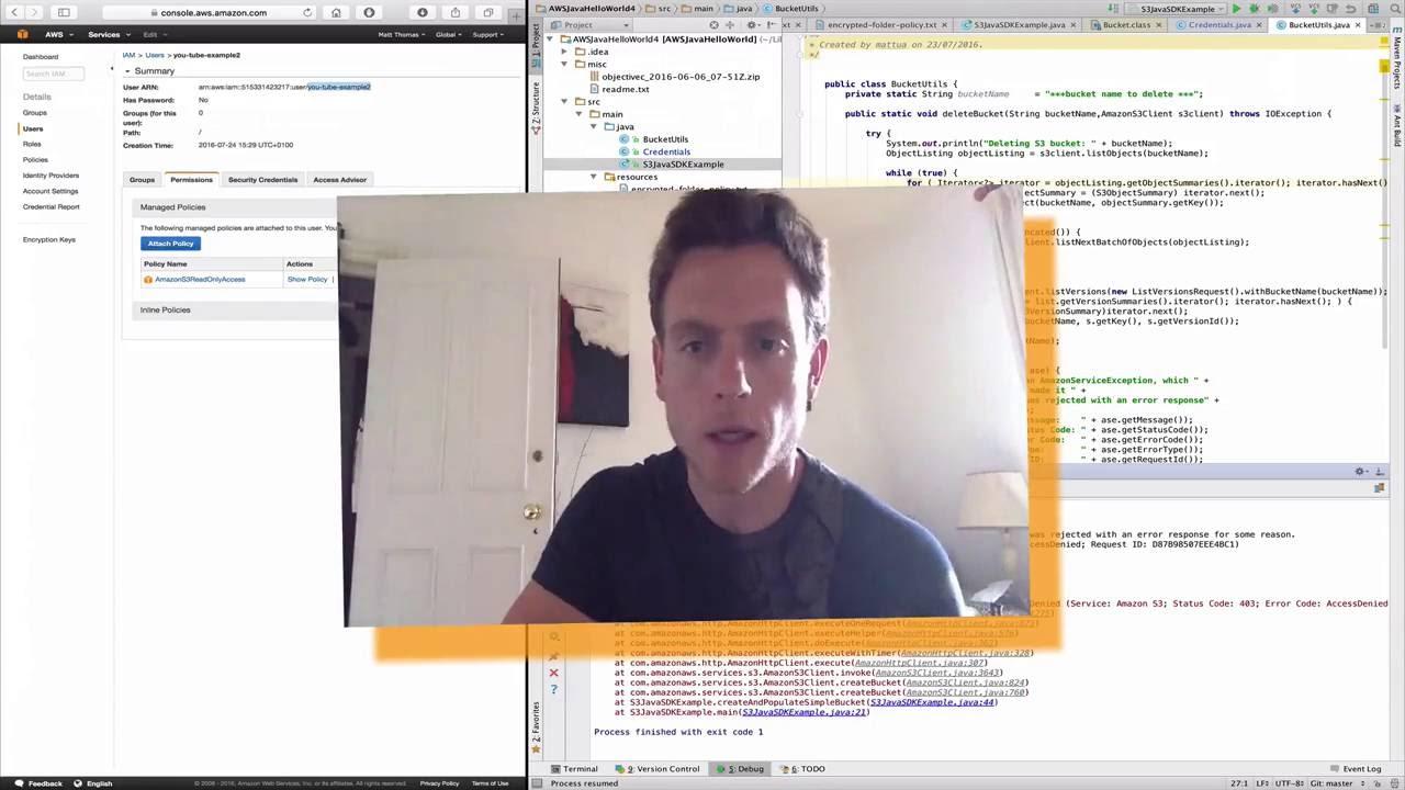 AWS S3 server side encryption - Java SDK example