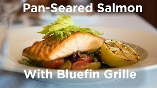 Goprovidence.com Presents: Pan-seared Salmon With Bluefin Grille
