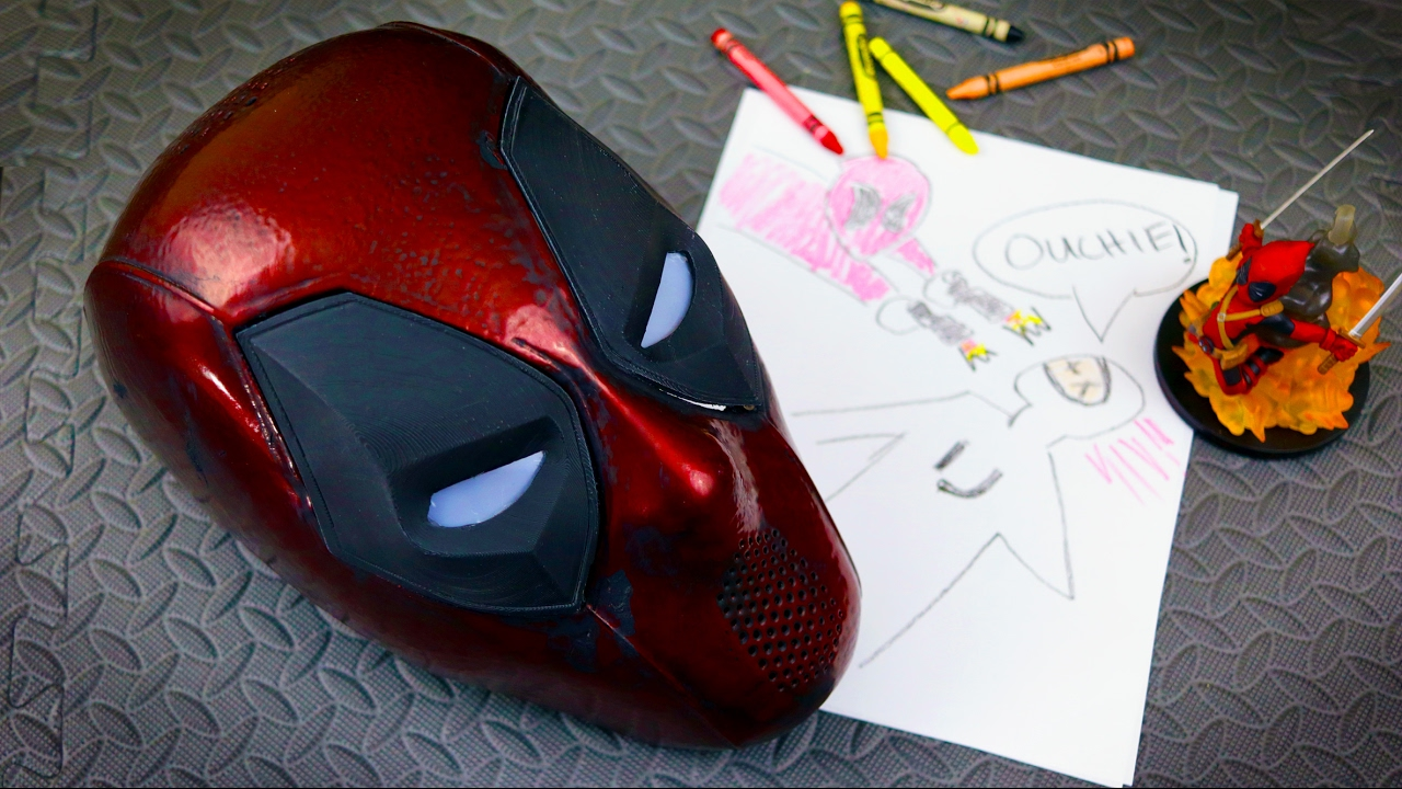 Deadpool Mask With Magnetic Eyes